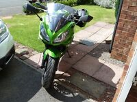 Kawasaki ER 6 F, low mileage, good condition, comes with panniers.