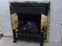 Gas Fire, Cannon Live-Fire, Coal effect with convector