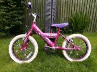 "Girls 16"" Pink Bike"