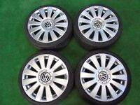 "VW POLO, AUDI 80 RS8 STYLE 17"" ALLOY WHEELS"