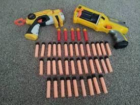 2 Nerf gun hasbro blasters guns maverick rev 6 45 bullets bundle collection toys