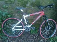 KONA QUEEN KAKAPU, FOX FLOAT RP2, ROCKSHOX TORA, SHIMANO XT SET-UP £180