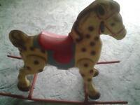 Vintage Metal rocking horse
