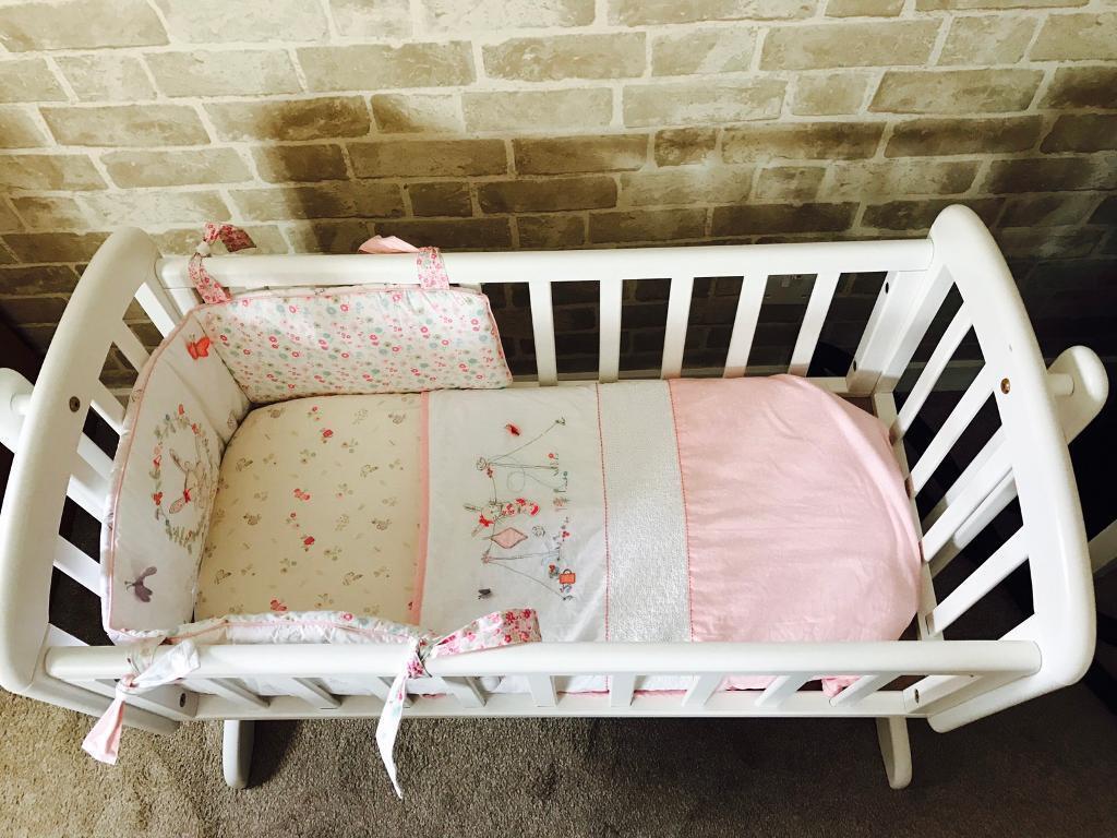 Baby cribs john lewis - John Lewis White Wooden Baby Crib With Mattress In Clydebank West Dunbartonshire Gumtree