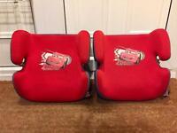 2 Lightning McQueen Car Booster Seats £5 Each