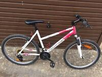Rockrider Front Suspension Mountain Bike, Serviced, Free Lock, Lights, Delivery