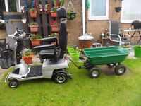 quingo mobility scooter five wheel 2keys chargergood clean allround vehicle with trailer