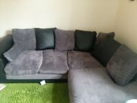 leather and grey corner sofa