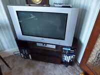 Flat Screen 80cm wide JVC TV plus stand if required