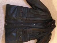 Mens Genuine Leather Coat XL