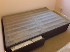 IKEA SOLVORN Double Divan, 1 year old £80 (ONO)