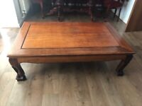 Oak Dining Table Set, An Oak cabinet and a large coffee table