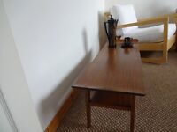 VINTAGE Danish Influence Mid Century Teak Coffee table with Shelf