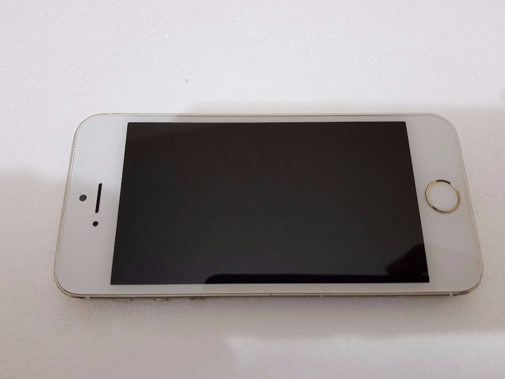 Apple iPhone 5s 16GB Gold Unlocked in Good to cosmetic condition with Fingerprint Sensor Fault