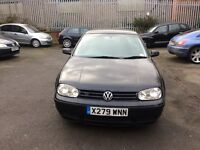 2001 VW GOLF 4MOTION 2.8 BLACK HEATED RECARO SEATS 2 KEEPERS FULL HISTORY