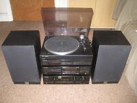 Hi-Fi: Pioneer A-300 Amplifier, Wharfedale Speakers , Marantz Record Deck, Pioneer CD Player & Tuner