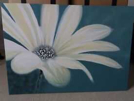 Large flower canvass