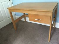 Pine Desk with Drawer Height 28.5in/72cm Width 42in/107cm Depth 24.5in/62cm