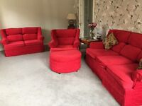 Red 4 Piece Sofa Set Free if you can pick up