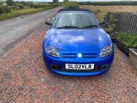 MG-TF 1.6 year 02 low 68000 miles -mot'd trophy blue