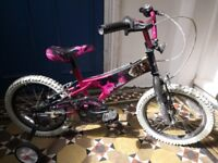 Girls First bike and accessories