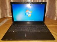 Acer Intel dual core 2gb ram 250gb hhd webcam hdmi laptop excellent condition