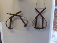 Vintage fishing wader/boot hanging clamps