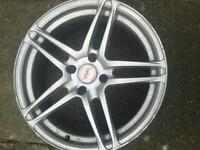 alloys wheels 17 inch set silver 4 over 100 selling for £100