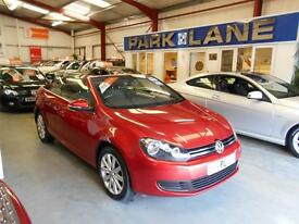 Volkswagen Golf 1.6 TDI BlueMotion Tech SE 2dr Convertible (sunset red metallic) 2013
