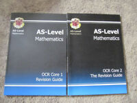 AS level CGP Maths Revision Guides Core 1 & 2 - vgc- £4