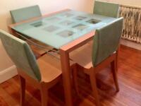 Linge Roset table and 6 chairs