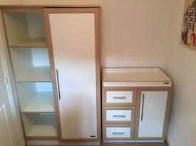 Wardrobe and cupboard