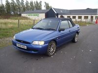 FORD ESCORT 1.6 CABRIOLET 72K VERY CLEAN EXAMPLE SOLID CAR DRIVES SUPERB LONG MOT