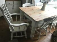 Laura Ashley painted Farmhouse solid table and chairs