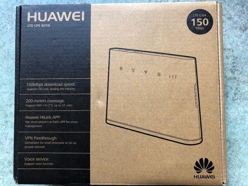 Huawei B310 4g Mobile Broadband Unlocked In Erdington West Modem