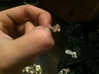 9CT GOLD & DIAMOND EARRINGS