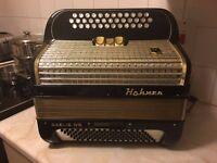 Black Hohner Gaelic IV S 3 row accordion