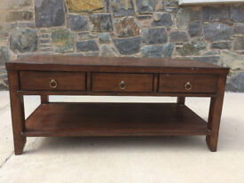 Willis and Gambler solid walnut coffee table