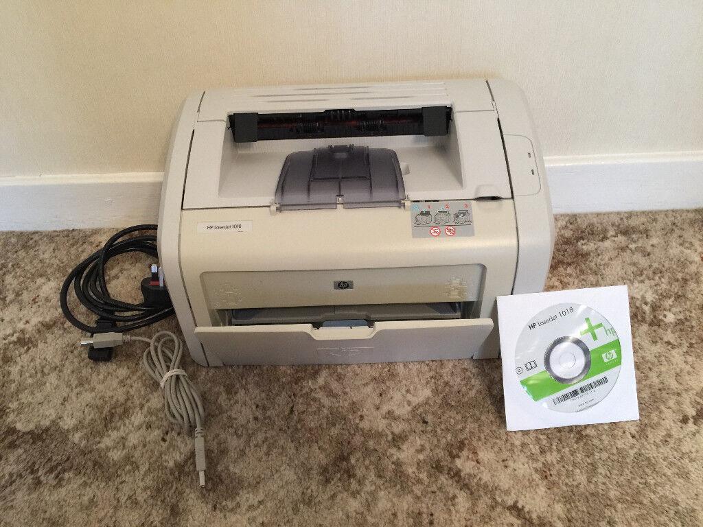 Hewlett Packard HP1018 LaserJet Printer, Monochrome in very good condition.