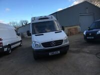 mercedes sprinter fridge van.2012.mwb.1 owner.313.3 partitions for frozen,chilled and ambient
