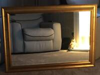 Large Gold colour frame Mirror
