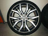 "GOLF GTD GENUINE 19""VW MK7 SANTIAGO X4 GTD GTI R AUDI S3 SKODA ALLOY WHEELS"