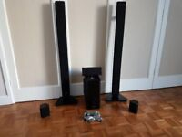 6 Home-theatre system speakers, 50£, Egham area, collection only.