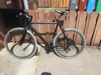 Black rare racer bike worth £1000