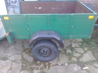 A good strong hard wood car trailer all rear lights new tyres