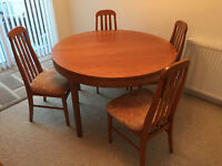 Nathan Teak Dining Table and Four Chairs