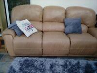 Beautiful soft leather sofa.