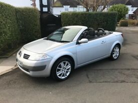 2005 55 RENAULT MEGANE DYNAMIQUE CONVERTIBLE SILVER LOW MILES VERY GOOD CONDITION