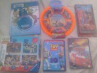 Disney Pixar Bundle: Toy story DVD special edition - jigsaws + new flying disc + Cars dvd