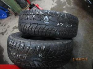 275/65R18 HANKOOK 2 ONLY USED WINTER TIRES